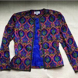 Vintage Colorful Silk Blazer